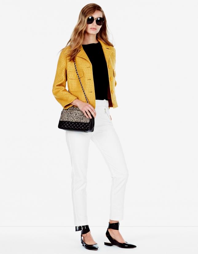 Veste à revers couleur ambre