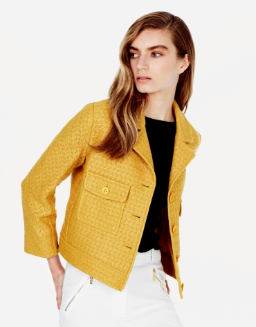 Amber jacket with lapels