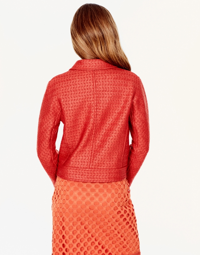 Veste à revers orange