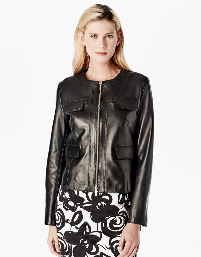 Black lambskin jacket