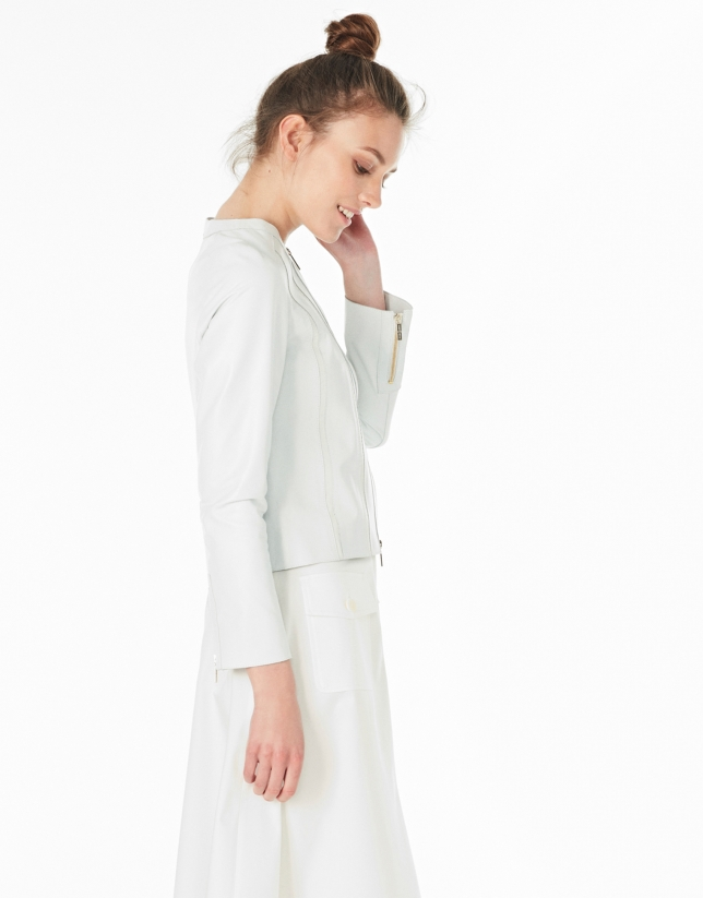 White lambskin jacket