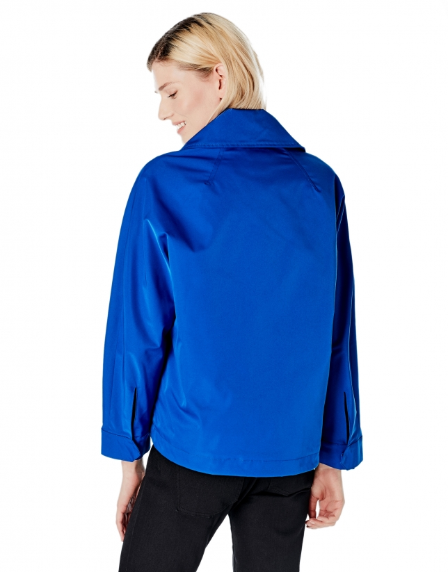 Cobalt blue windbreaker