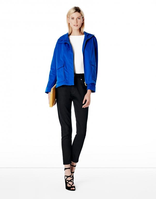 Blouson bleu cobalt