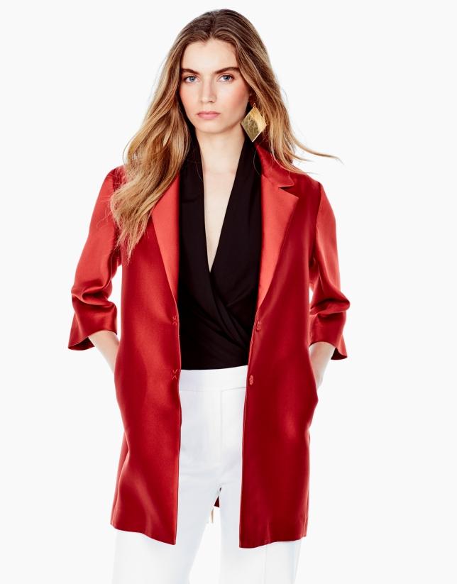 Orange short coat