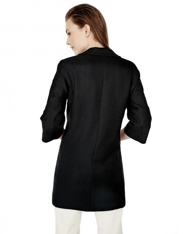 Blue coat with lapels