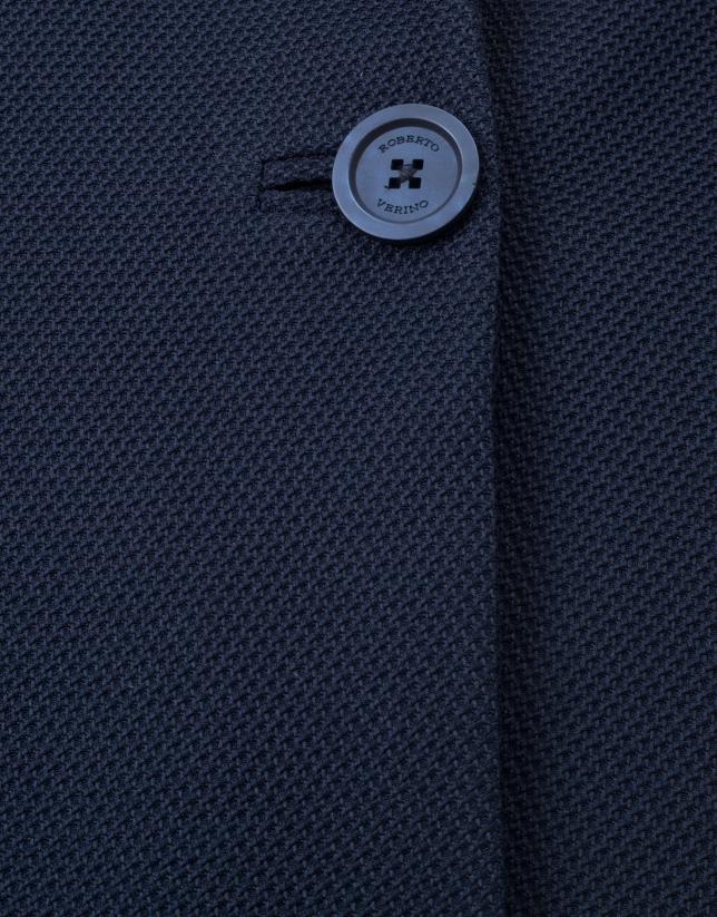 Manteau à revers bleu