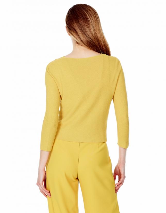 Gilet court couleur ambre