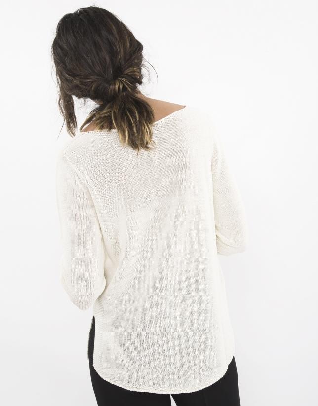 Beige flowing sweater