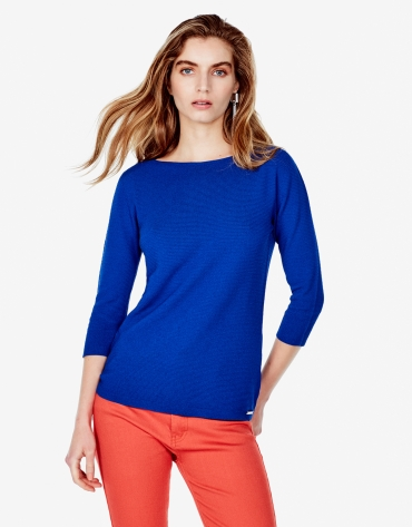 Plain blue sweater