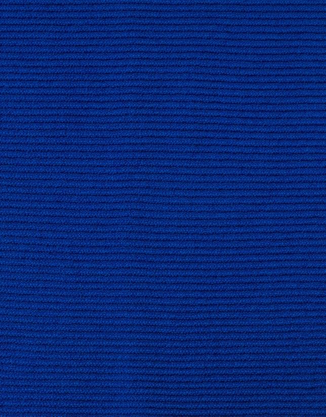 Pull bleu uni