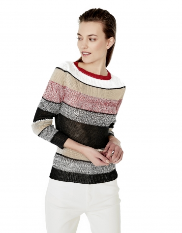 Sweater with trim