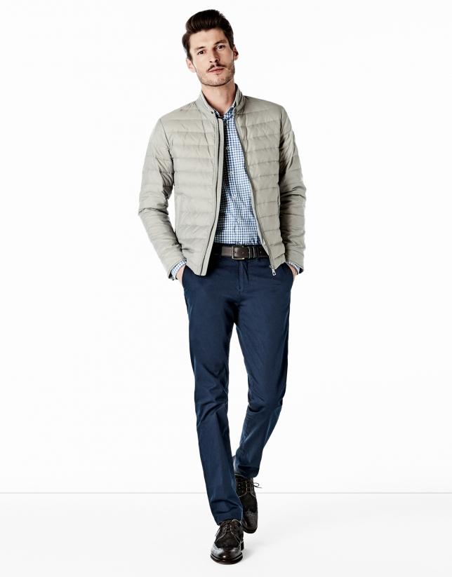 Pantalón chino algodón azul marino