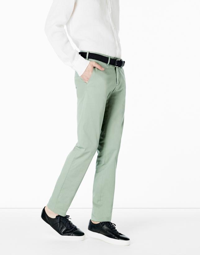 Pantalon chino vert clair