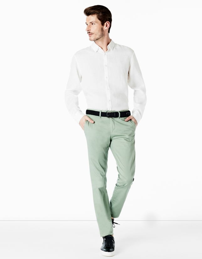 Light green chino pants