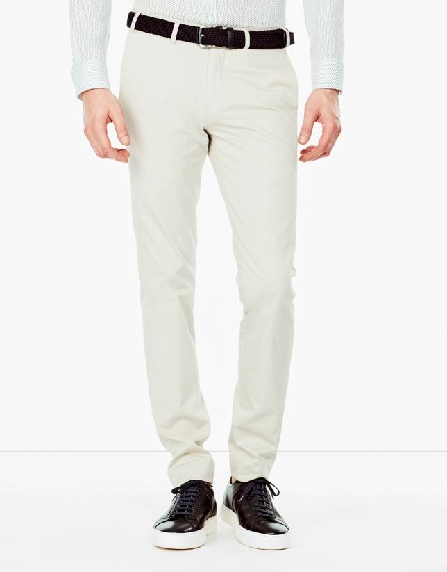 Beige dressy chino pants
