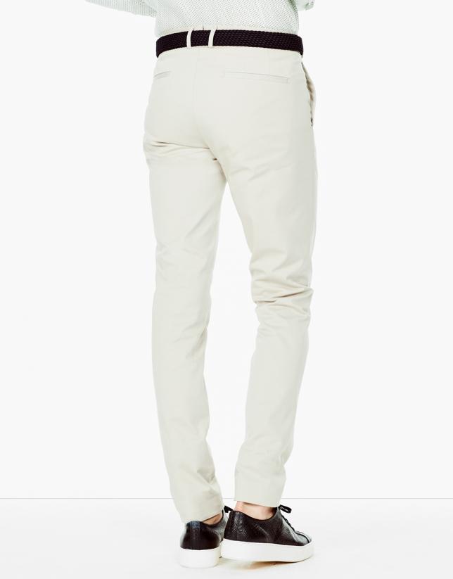 Pantalón chino vestir beige