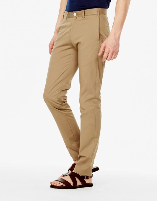 Pantalon de costume chino kaki