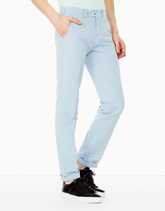 Light blue linen pants