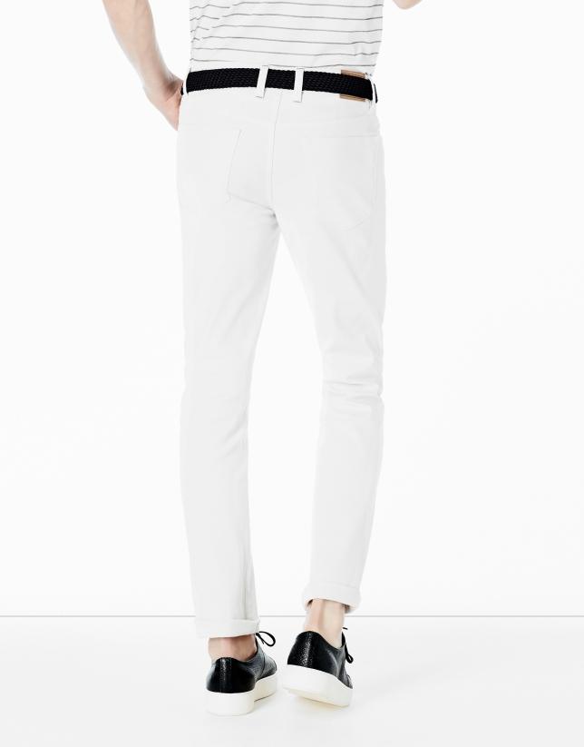 Pantalon cinq poches blanc