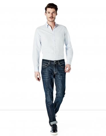 Pantalón vaquero slim fit azul oscuro
