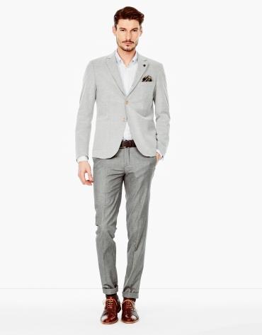 Pantalón falso liso gris