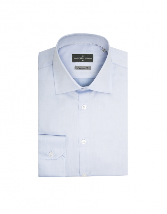 Light blue regular fit dress shirt