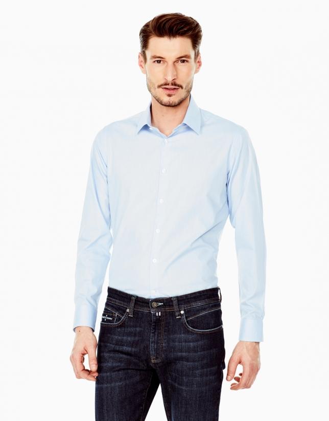 Camisa vestir oxford celeste