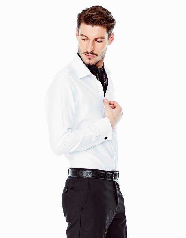 Chemise de costume structurée blanche
