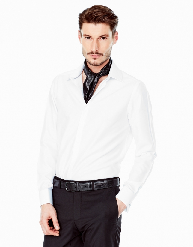 White structured dress shirt