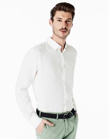 White linen sport shirt