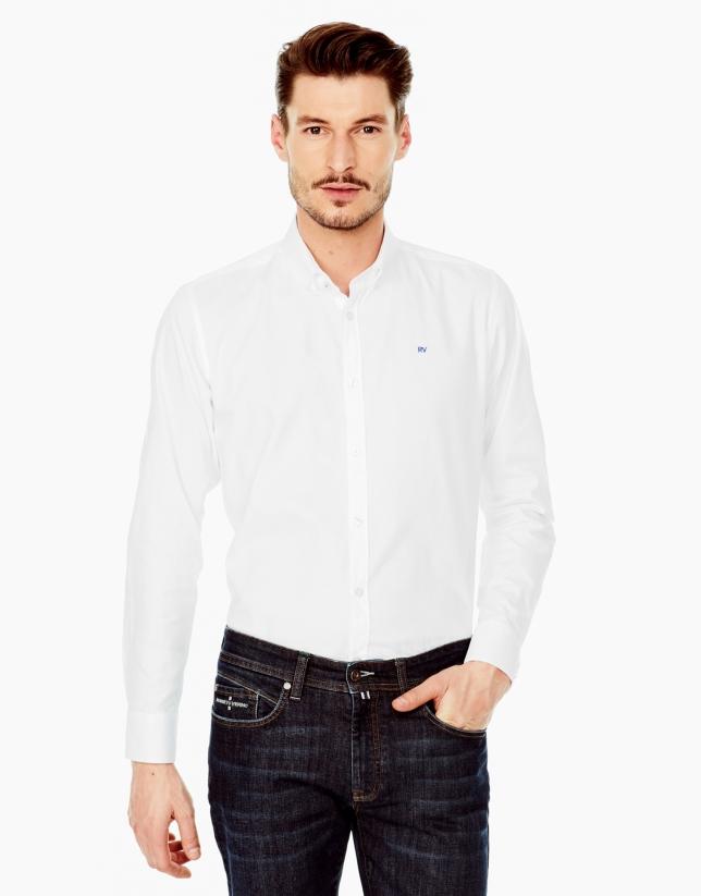 Chemise décontractée Oxford blanche
