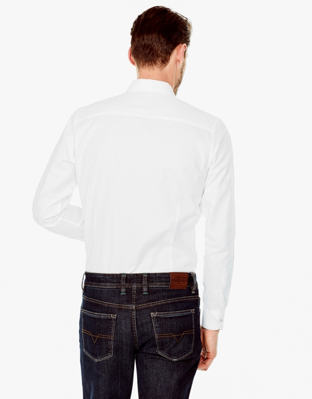 Camisa sport oxford blanca