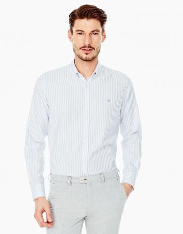 Camisa sport rayas azul
