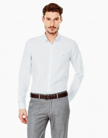 Gray striped sport shirt