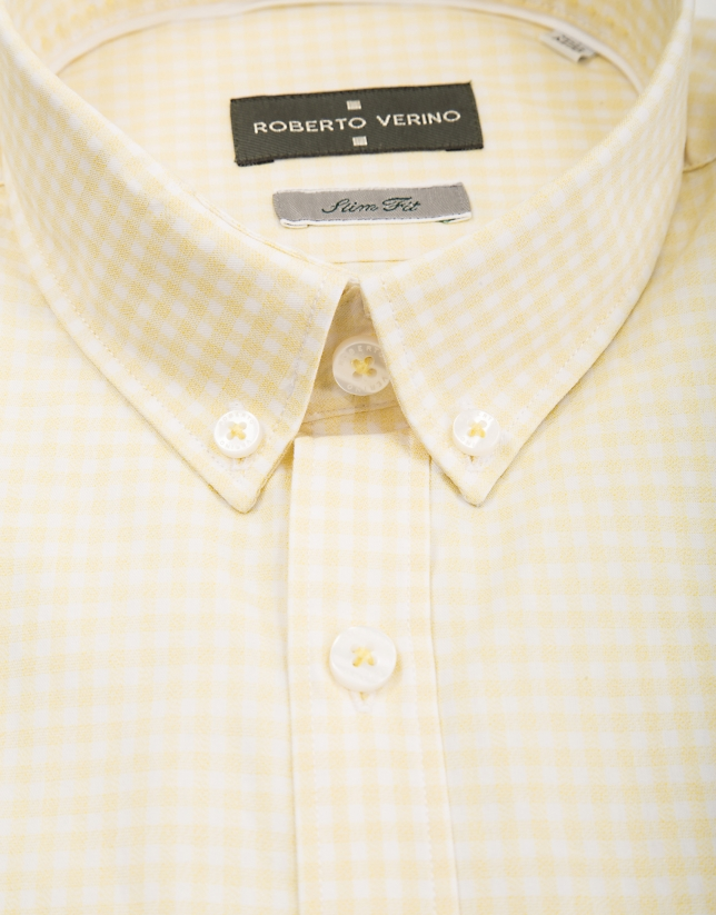 Yellow Vichy sport shirt