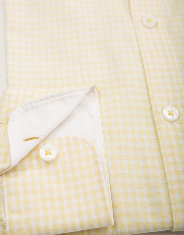Camisa sport vichy amarillo