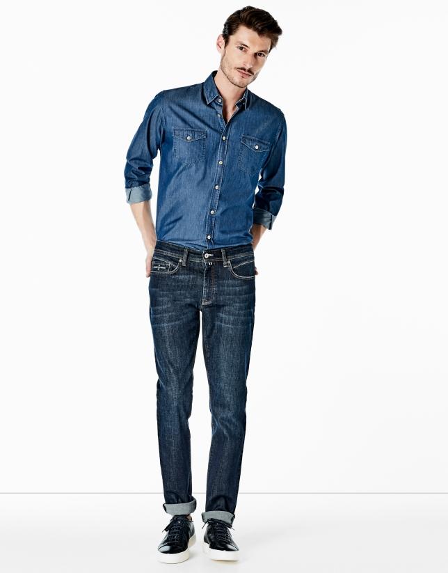 Chemise décontractée en jean