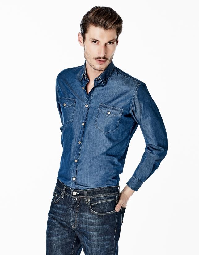Jeans sport shirt