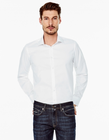 Camisa vestir regular fit blanca