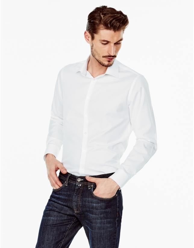 Camisa vestir regular fit blanca