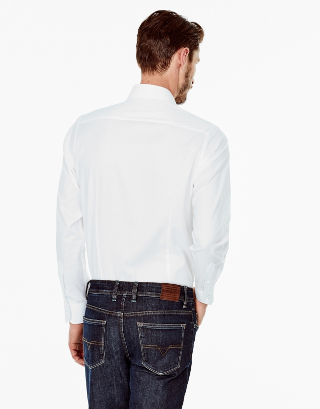 White regular fit dress shirt