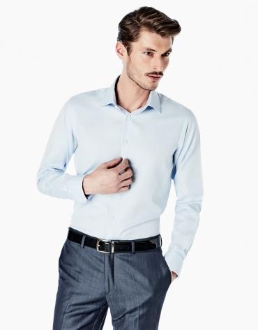 Camisa vestir slim fit celeste