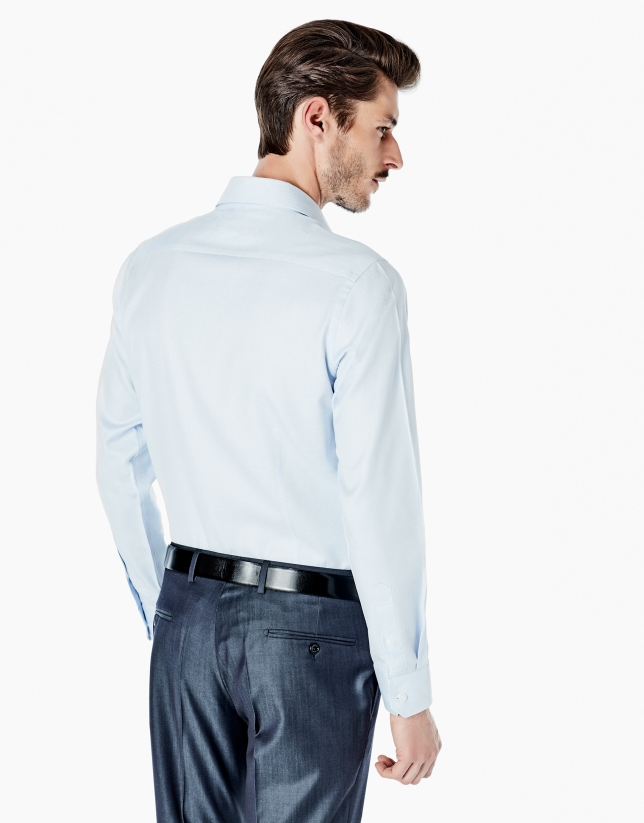Light blue slim fit dress shirt
