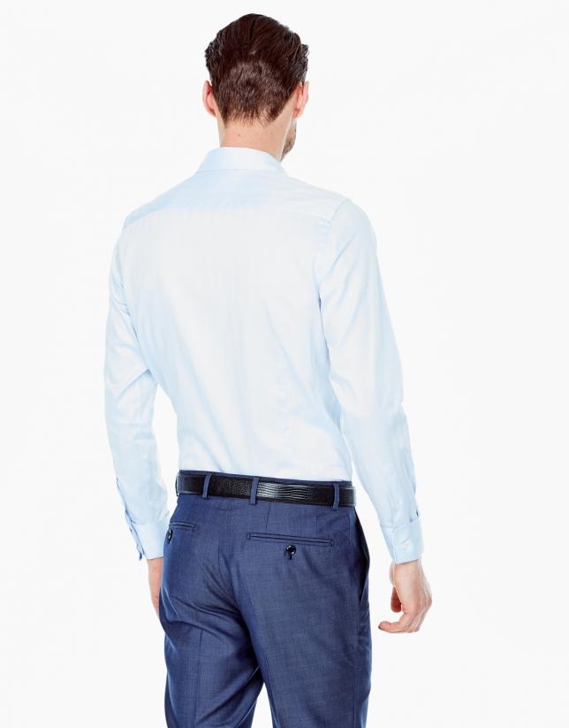 Light blue herringbone dress shirt