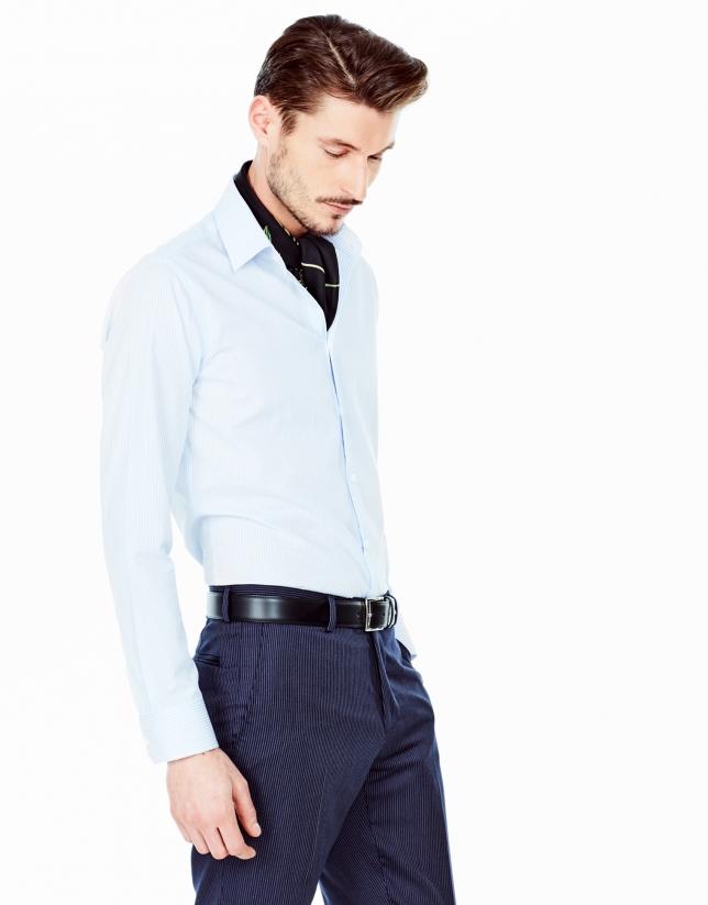 Camisa vestir slim fit raya candela celeste