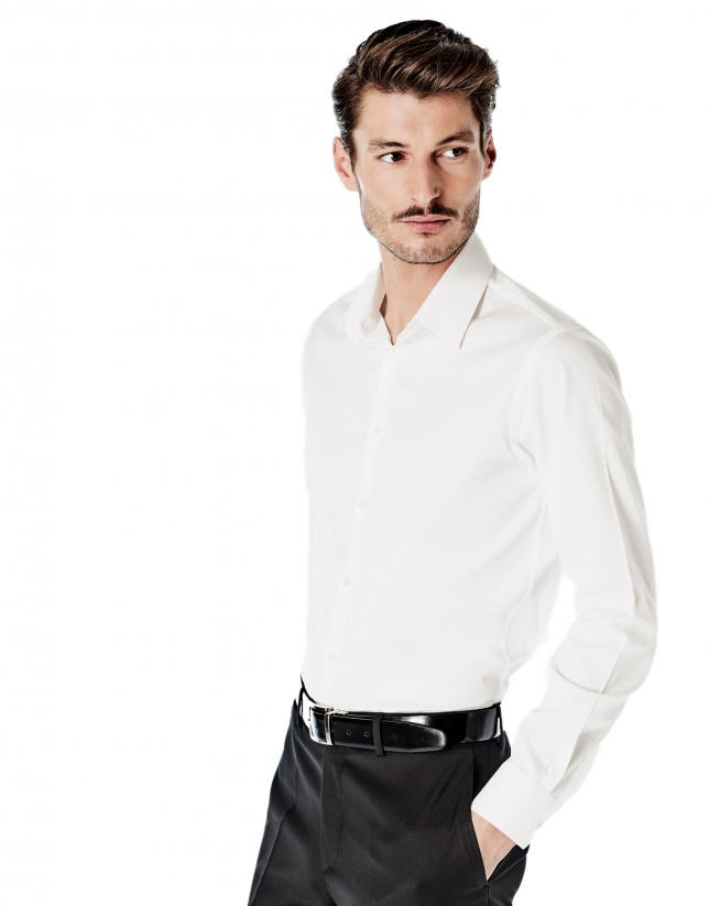 White design slim fit dress shirt