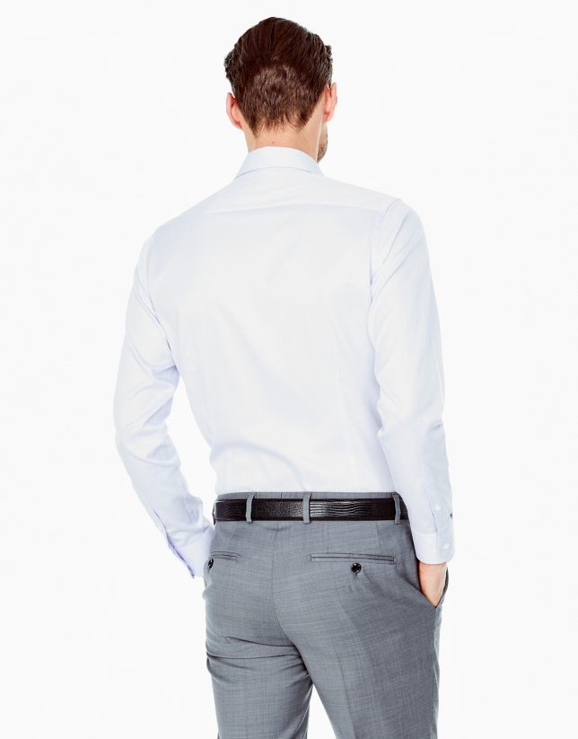 Camisa vestir slim fit dibujo malva