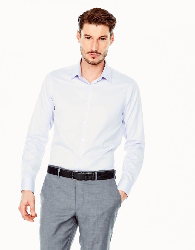 Chemise de costume coupe ajustée (slim fit) mauve à motif