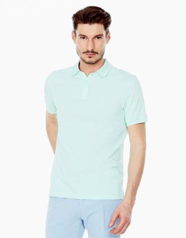 Aqua green piqué polo shirt