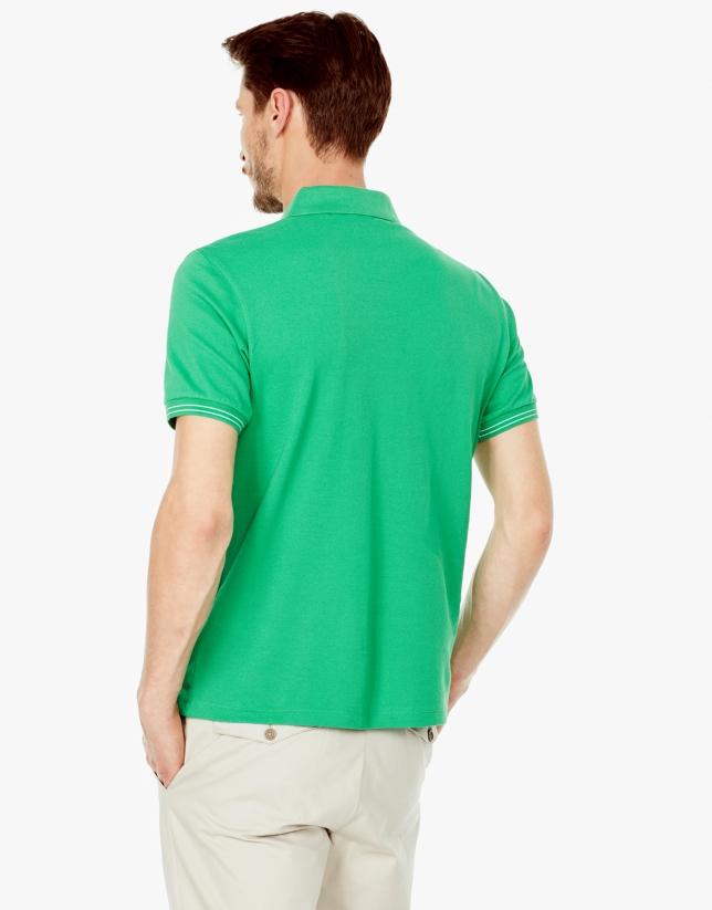 Polo piqué verde